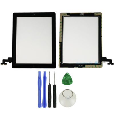 New Replacement Touch Screen Digitizer + Adhesive for Apple iPad 2 Black US